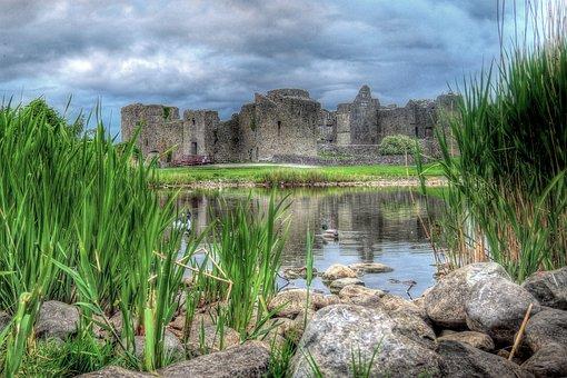 Roscommon, Castle, Ruine, Hdr, Ruin, Fortress