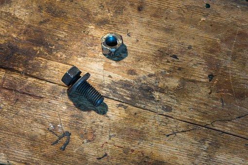 Screw, Mother, Thread, Connection, Hexagon Nut, Gland