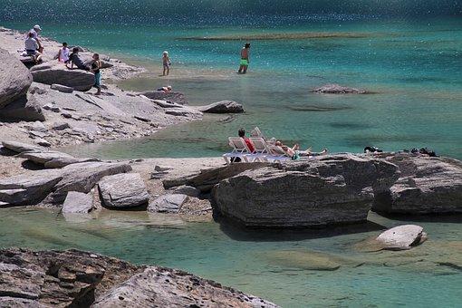 Relaxation, Lake, Water, Flims, Caumasse, Holiday