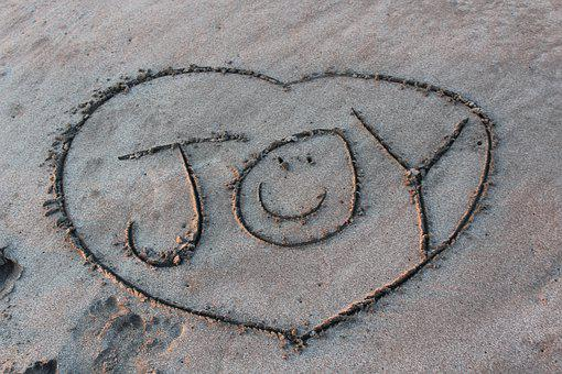 Joy, Sand, Be, Beach, Happy, Sand Writing, Happy Face