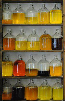 Jars, Jugs, Glass, Apothecary, Vessel, Container, Oil