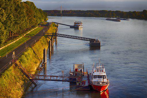 River, Ship, Boat, Logistics, Water, Lake, Paddle