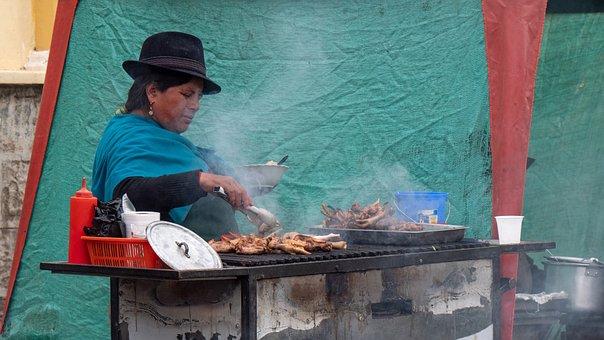 Ecuador, Market, Guamote, Indio, Barbecue, Andes