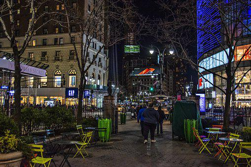 Manhattan, Midtown, New York, Market, Street, Traffic