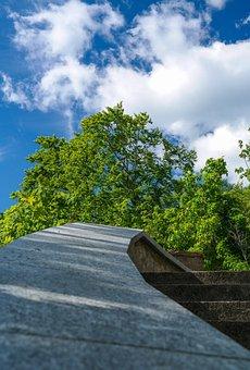 Stairs, Gradually, Parapet, Upward, Gene Sky, Rise