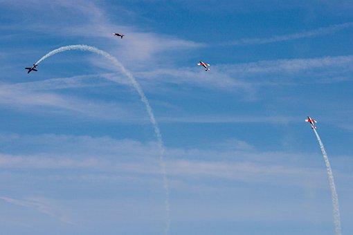 Pc-7, Aircraft, Airshow, Switzerland, Aerial Acrobatics