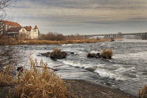 Dolanský Bridge, Bridge, Water, River, Landscape