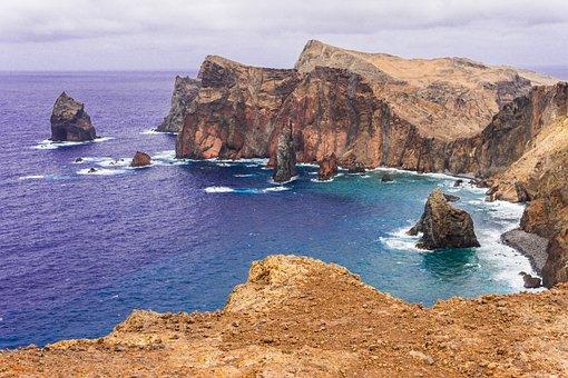 Madeira, Rock, East Coast, Atlantic, Sea, Nature, Ocean