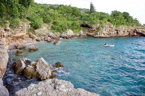 Sea, Rocks, Croatia, Trip, Costa, Summer, Holiday