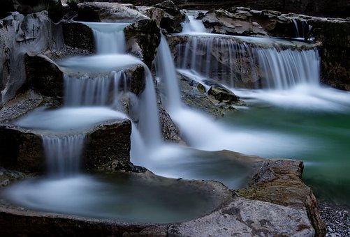 Waterfall, Longexposure, Volcanic, Stream, Spring