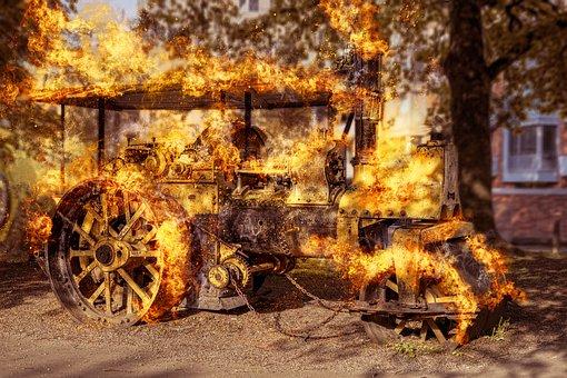 Steamroller, Steampunk, Steam, Ancient, Classic, Retro