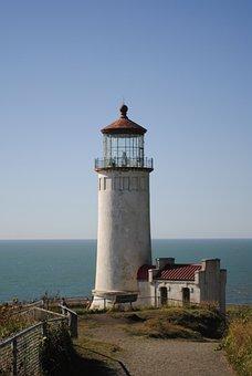 Lighthouse, Ocean, Sea, Bluff, Coast, Travel, Shore