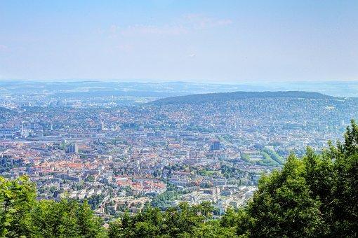 Uetliberg, Zurich, Switzerland, Hike, View, Vista