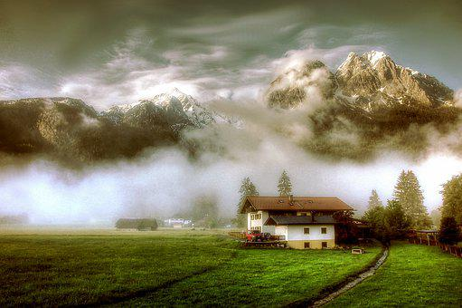 Grainau, Waxenstein, Bavaria, Nature, Sky, Alpine