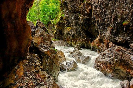 Partnachklamm, Bavaria, Clammy, Water, Nature, Bach