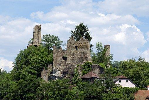 Ruins Of The Castle Neck, Passau, Bavaria