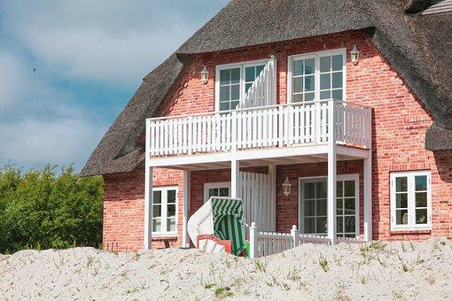 Friesenhaus, Sand, Beach Chair, Protected, Sun, Cozy