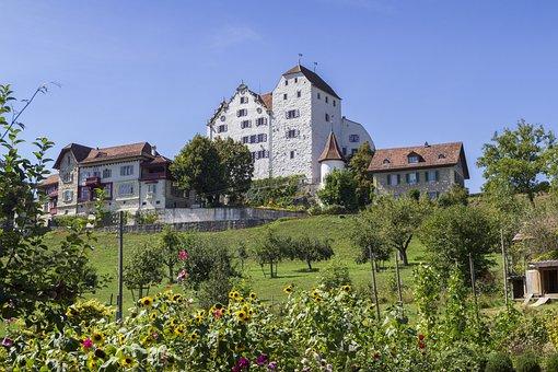 Castle, Wildegg, S, Switzerland, Aargau, Fortification