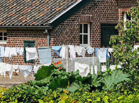 Was, Clothesline, Farm, Wash, Clothing, Hang, Dry