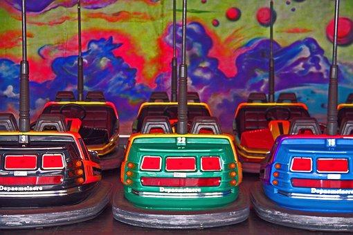 Sinksenfoor, Funfair, Fairground, Autoscooter, Colors