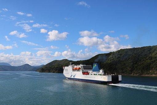 Ferry, Marlborough Sounds, New Zealand, Boat, Sea