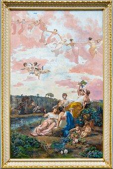 Galoppi, Fresco, Achilleion, Ahileo, Greece, Corfu