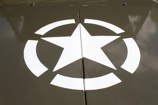 Jeep, Hood, Star, Usa, Army, Transport