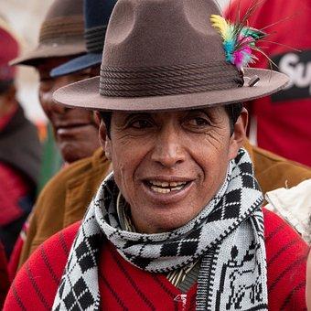 Ecuador, Indio, Joy, Observer, Hat, Portrait, Color