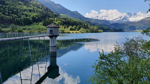 Kaiserstuhl, Lungern, Switzerland, Mountains, Lake