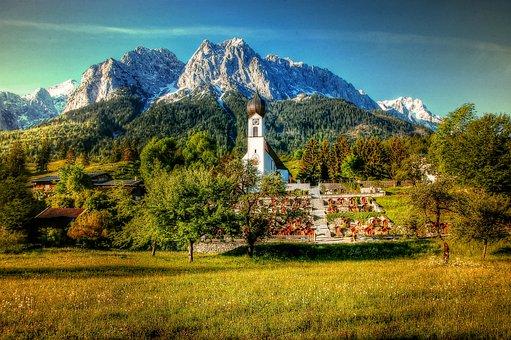 Grainau, Zugspitze, Bavaria, Landscape, Mountains
