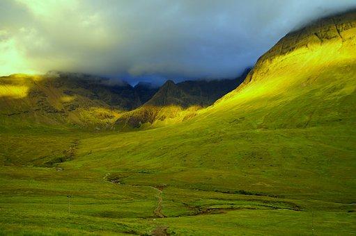Scotland, Mountains, Isle Of Skye, Landscape, Nature