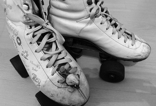 Roller Skates, Sport, Roll-school Catch, Retro, 80s