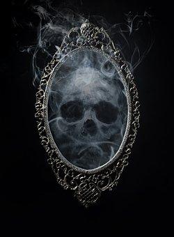 Skull, Mirror, Horror, Scary, Halloween, Fantasy