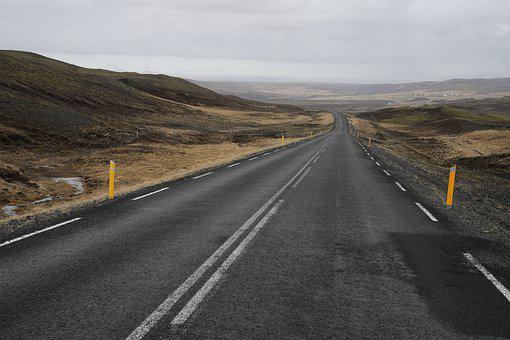 Road, Barren, Iceland, Landscape, Outdoor, Travel