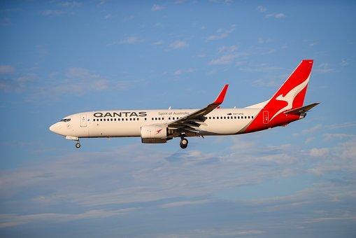 Air Plane, Landing, Qantas, Australian