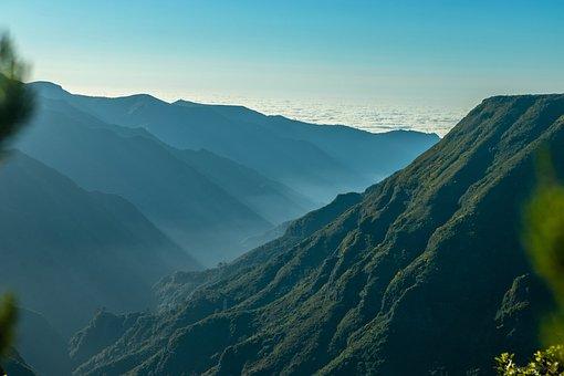 Mountains, Forest, Laurel, Landscape, Mountain, Clouds