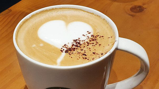 Coffee, Hart, Cup, Love, Cafe, Cappuccino, Foam