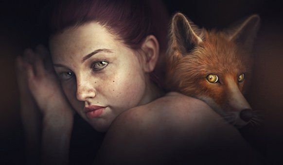 Fantasy, Girl, Fox, 3d, Cg, Cgi, Render, Sexy, Female