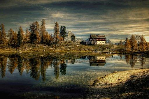 Dolomites, Lago Federa, Alpine, Landscape, Italy