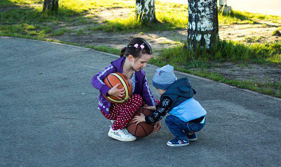 Kids, Game, Ball, Childhood, In The Summer Of
