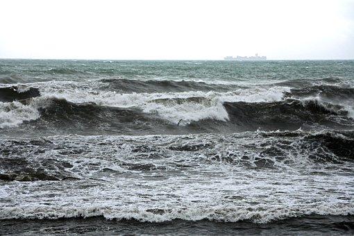 Recco, Liguria, Sea, Sea Storm, Landscape, Italy