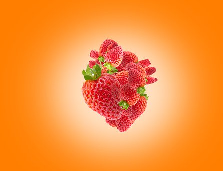 Strawberry, Isolated, Background, White, Healthy, Red