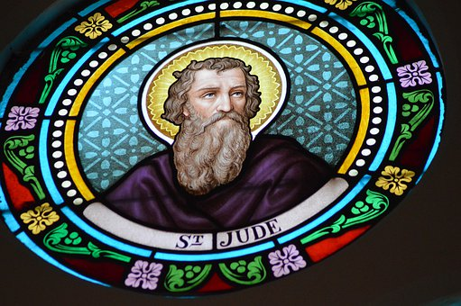 Stained Glass, Colorful, Portrait, Person, Saint, Jude