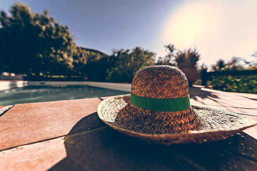 Hat, Straw Hat, Coneflower, Summer, Sun Protection