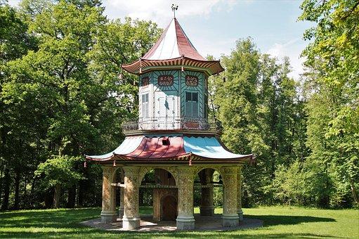 Vlašim, The Chinese Summerhouse, Castle, Park