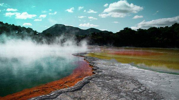 Hot Source, Volcano, Volcanic, Hot, Nature, Landscape