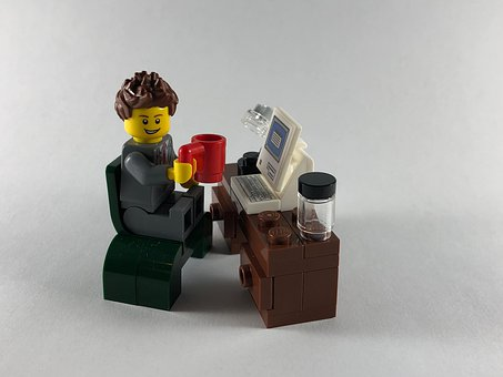 Business Man, Coffee, Work, Computer, Lego, Investing