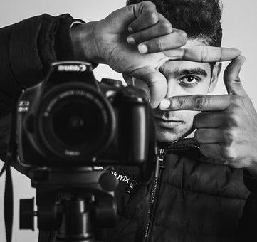 Portrait, Camera, Photographer, Boy, Camera Man, Artist