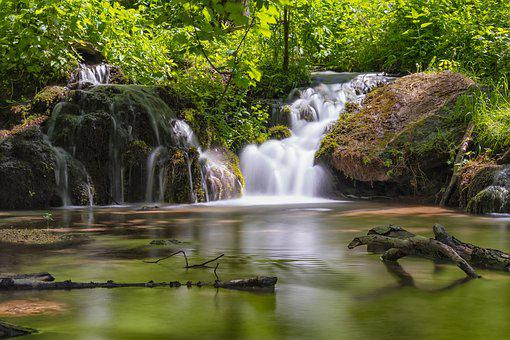Waterfall, Nature, Landscape, Water, Creek, Cascade