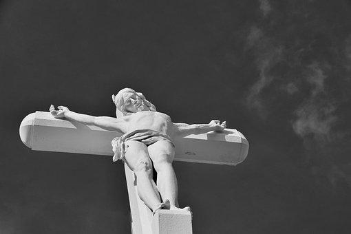 Cross, Christ, Sculpture Jesus Cross